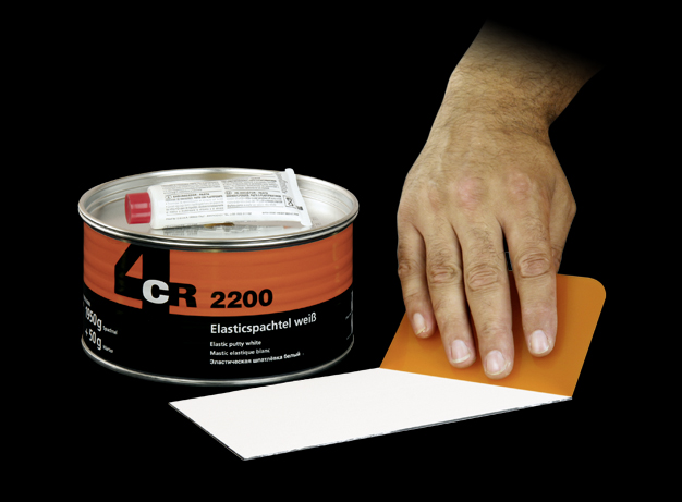 2kg elastic spachtel 2200 inkl h rter wei 4cr ebay. Black Bedroom Furniture Sets. Home Design Ideas