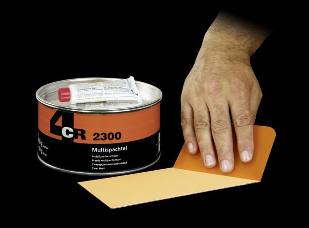 1kg-Multi-Spachtel-2300-inkl-Haerter-4CR-Fuellspachtel-Feinspachtel