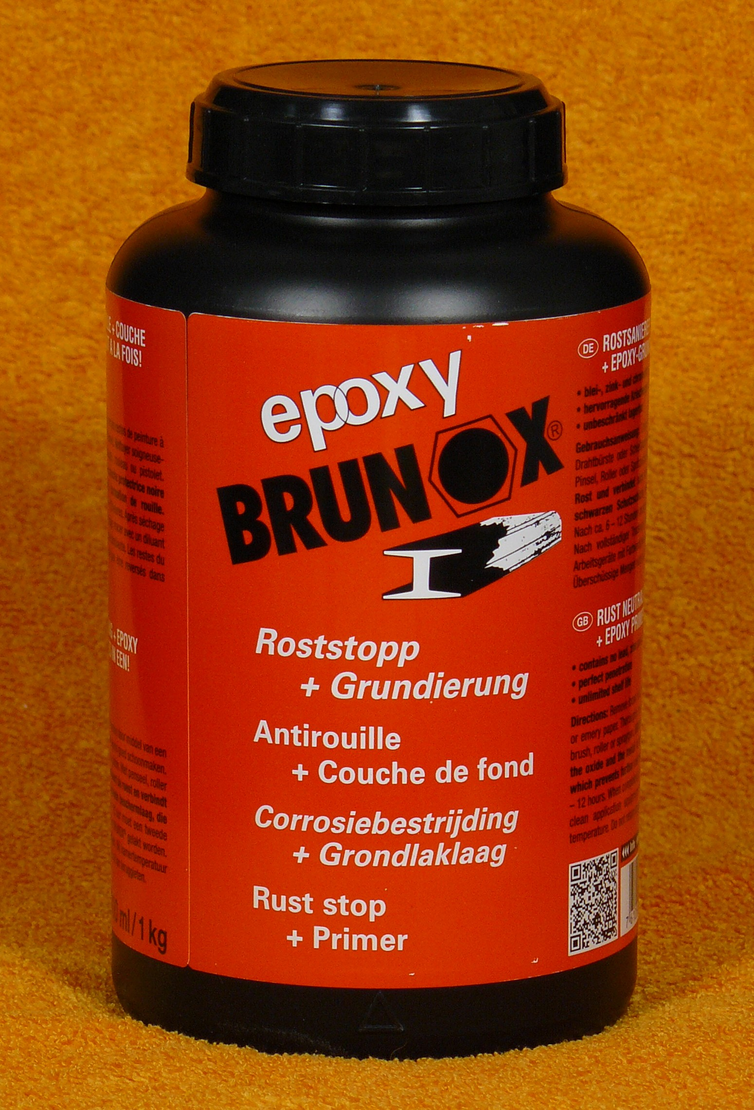 rostsanierer epoxy grundierung brunox 1l 1kg roststop. Black Bedroom Furniture Sets. Home Design Ideas